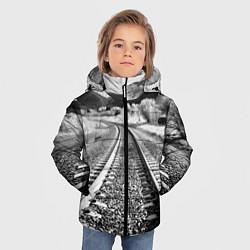 Куртка зимняя для мальчика Железная дорога цвета 3D-черный — фото 2