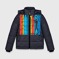 Куртка зимняя для мальчика Радужный спорт цвета 3D-черный — фото 1