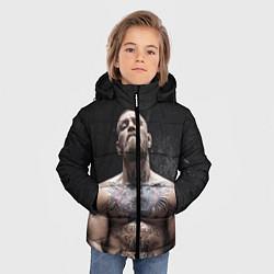 Детская зимняя куртка для мальчика с принтом Конор Макгрегор, цвет: 3D-черный, артикул: 10108606406063 — фото 2