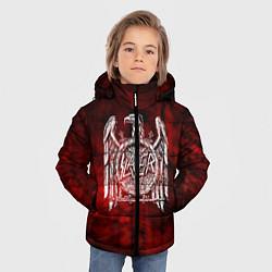 Детская зимняя куртка для мальчика с принтом Slayer: Blooded Eagle, цвет: 3D-черный, артикул: 10109345006063 — фото 2