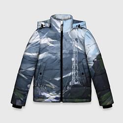 Куртка зимняя для мальчика Горы Алтая цвета 3D-черный — фото 1