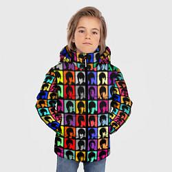 Куртка зимняя для мальчика The Beatles: pop-art цвета 3D-черный — фото 2