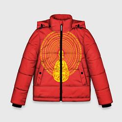 Куртка зимняя для мальчика Гомер медитирует цвета 3D-черный — фото 1