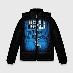 Куртка зимняя для мальчика Будка доктора цвета 3D-черный — фото 1