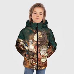 Куртка зимняя для мальчика Воин крепости цвета 3D-черный — фото 2
