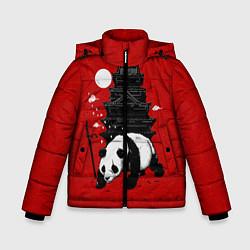 Куртка зимняя для мальчика Panda Warrior цвета 3D-черный — фото 1