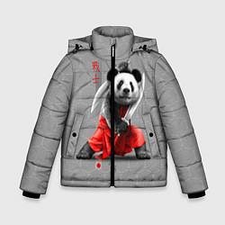 Куртка зимняя для мальчика Master Panda цвета 3D-черный — фото 1