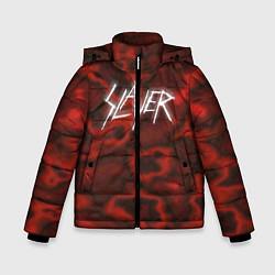 Куртка зимняя для мальчика Slayer Texture цвета 3D-черный — фото 1