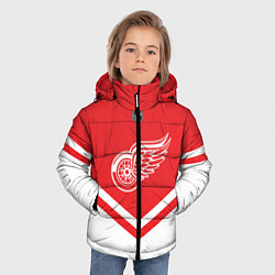 Куртка зимняя для мальчика NHL: Detroit Red Wings цвета 3D-черный — фото 2
