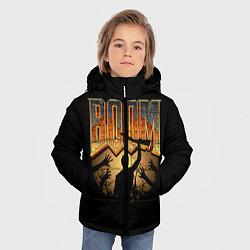 Куртка зимняя для мальчика Zombie Boom цвета 3D-черный — фото 2
