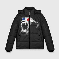 Детская зимняя куртка для мальчика с принтом 3D Monkey, цвет: 3D-черный, артикул: 10112477306063 — фото 1