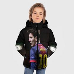 Детская зимняя куртка для мальчика с принтом Месси 10, цвет: 3D-черный, артикул: 10112712506063 — фото 2