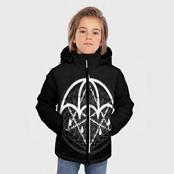 Куртка зимняя для мальчика BMTH: Rain Symbol цвета 3D-черный — фото 2