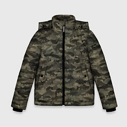 Куртка зимняя для мальчика Камуфляж рыбака цвета 3D-черный — фото 1