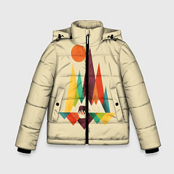 Куртка зимняя для мальчика Медведь в горах цвета 3D-черный — фото 1