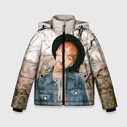 Куртка зимняя для мальчика Min Yoon Gi цвета 3D-черный — фото 1