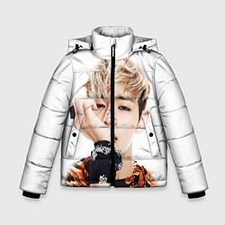 Куртка зимняя для мальчика Kim TaeHyung цвета 3D-черный — фото 1