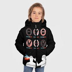 Куртка зимняя для мальчика Twenty one pilots цвета 3D-черный — фото 2