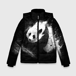 Куртка зимняя для мальчика Молочная панда цвета 3D-черный — фото 1