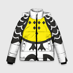 Куртка зимняя для мальчика Сова: пора в отпуск! цвета 3D-черный — фото 1
