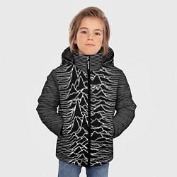 Детская зимняя куртка для мальчика с принтом Joy Division: Unknown Pleasures, цвет: 3D-черный, артикул: 10115691506063 — фото 2