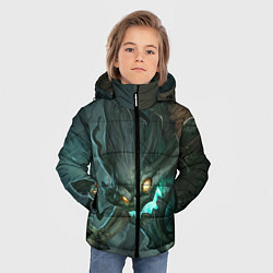 Куртка зимняя для мальчика Маокай цвета 3D-черный — фото 2