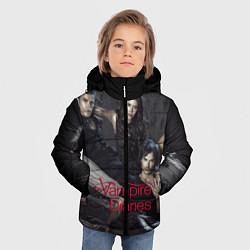 Куртка зимняя для мальчика Дневники вампира цвета 3D-черный — фото 2