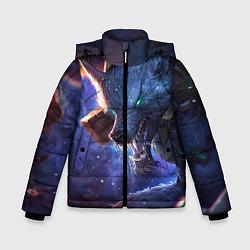 Куртка зимняя для мальчика Warwick цвета 3D-черный — фото 1