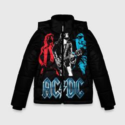 Куртка зимняя для мальчика AC/DC: Ice & Fire цвета 3D-черный — фото 1