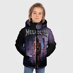Детская зимняя куртка для мальчика с принтом Megadeth: Madness, цвет: 3D-черный, артикул: 10118377406063 — фото 2