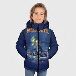 Куртка зимняя для мальчика Megadeth: Rust In Peace цвета 3D-черный — фото 2