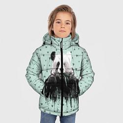 Куртка зимняя для мальчика Панда-художник цвета 3D-черный — фото 2
