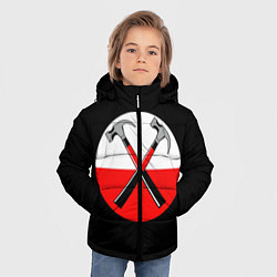 Куртка зимняя для мальчика Pink Floyd: Hammers цвета 3D-черный — фото 2