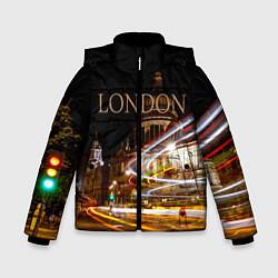 Куртка зимняя для мальчика Улицы Лондона цвета 3D-черный — фото 1
