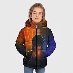 Куртка зимняя для мальчика Виктор Цой в ночи цвета 3D-черный — фото 2
