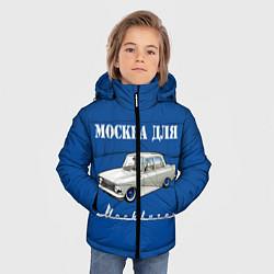 Детская зимняя куртка для мальчика с принтом Москва для москвичей, цвет: 3D-черный, артикул: 10121019806063 — фото 2