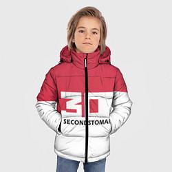 Детская зимняя куртка для мальчика с принтом 30 Second To Mars, цвет: 3D-черный, артикул: 10121020406063 — фото 2