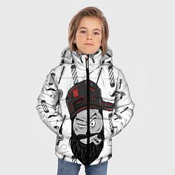 Куртка зимняя для мальчика Барбер Борода цвета 3D-черный — фото 2