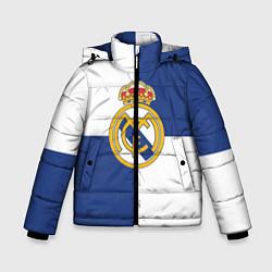 Куртка зимняя для мальчика Real Madrid: Blue style цвета 3D-черный — фото 1