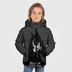 Куртка зимняя для мальчика Bojack Horseman цвета 3D-черный — фото 2
