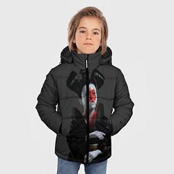 Куртка зимняя для мальчика Ghost In The Shell 2 цвета 3D-черный — фото 2