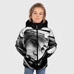 Куртка зимняя для мальчика Гагарин космонавт цвета 3D-черный — фото 2