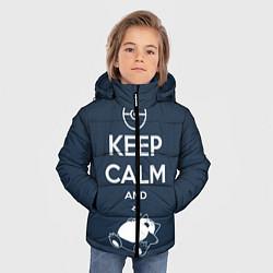 Куртка зимняя для мальчика Keep Calm & Squirtle цвета 3D-черный — фото 2