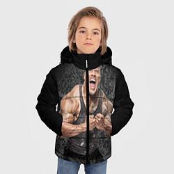 Куртка зимняя для мальчика Dwayne Johnson цвета 3D-черный — фото 2