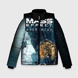 Куртка зимняя для мальчика Mass Effect: Andromeda цвета 3D-черный — фото 1