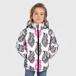 Куртка зимняя для мальчика Сердца 1 цвета 3D-черный — фото 2