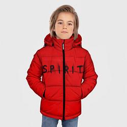 Куртка зимняя для мальчика DM: Red Spirit цвета 3D-черный — фото 2