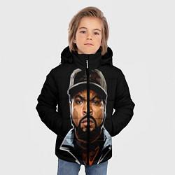 Куртка зимняя для мальчика Ice Cube цвета 3D-черный — фото 2