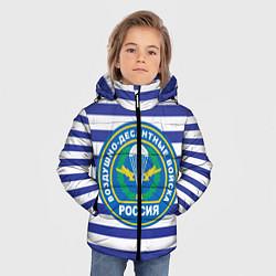 Детская зимняя куртка для мальчика с принтом ВДВ Россия, цвет: 3D-черный, артикул: 10132434506063 — фото 2