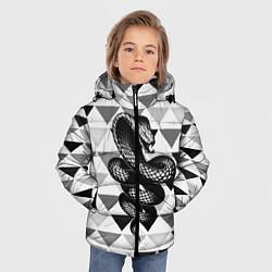Куртка зимняя для мальчика Snake Geometric - фото 2